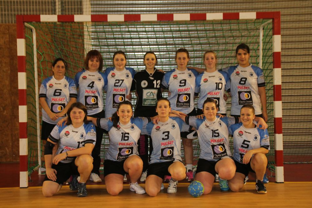 Equipe senior féminine Handball Club Lamastrois