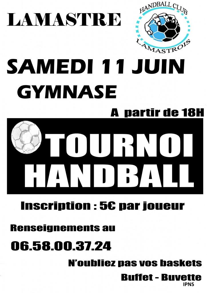 affiche TOURNOI DE HANDBALL 2016 fin