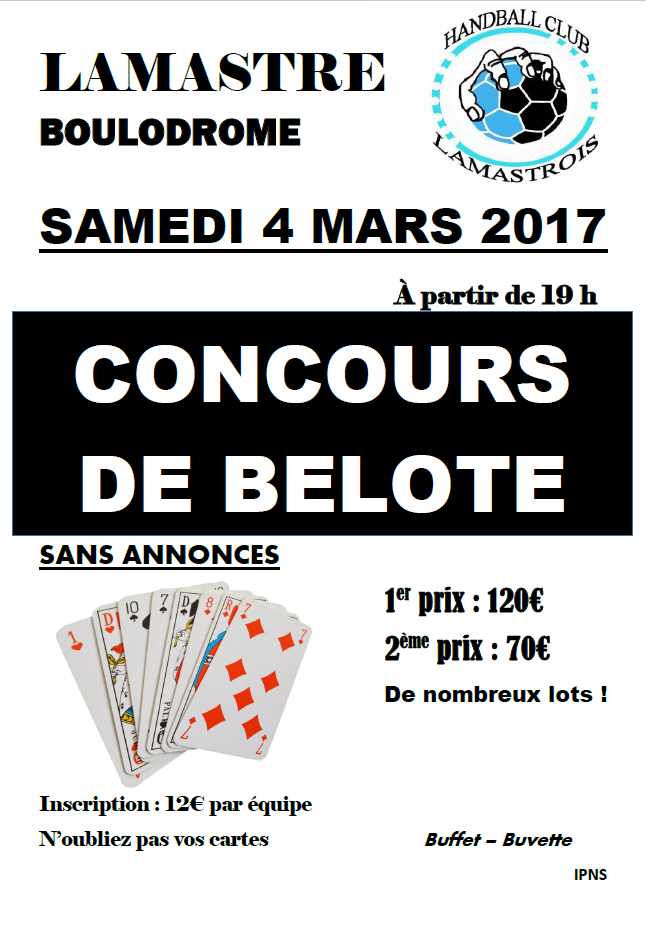 affiche concours belote 2017