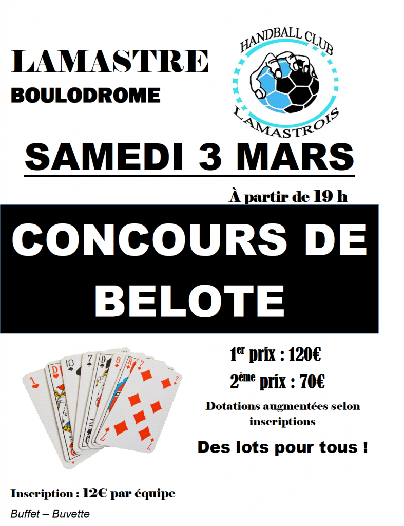 concours belote 2018 hcl